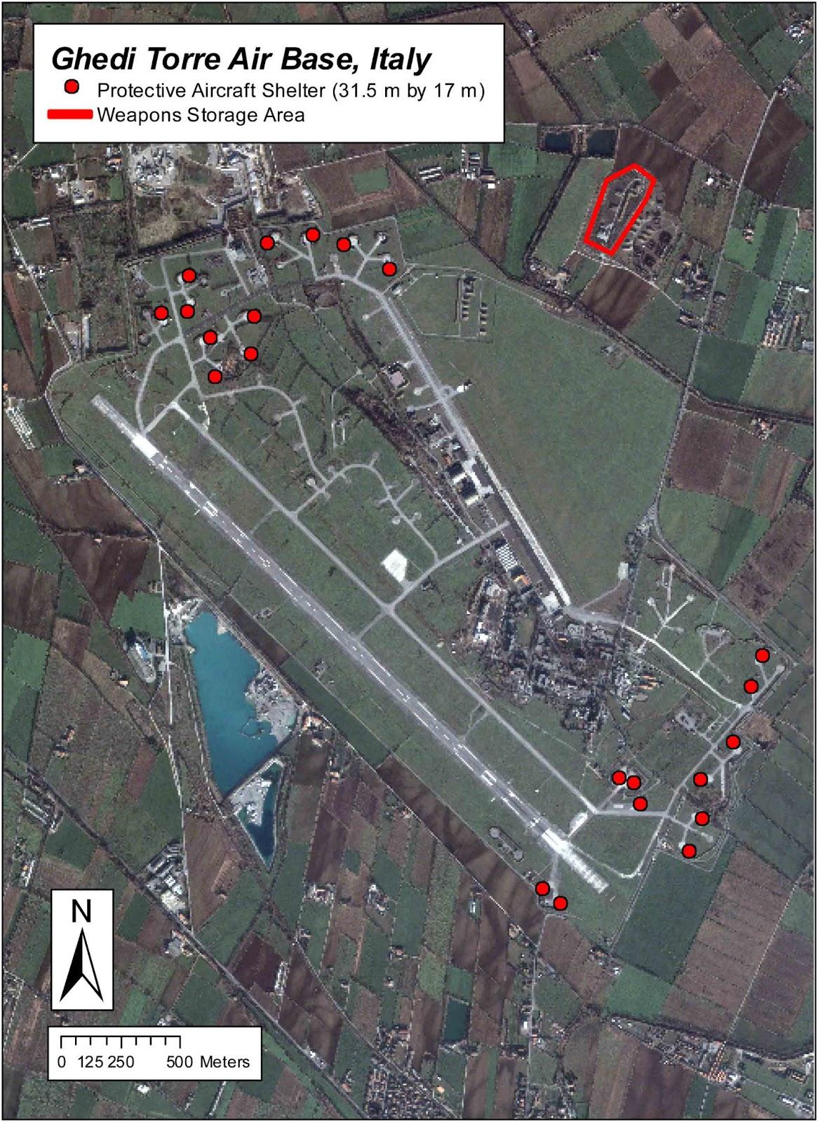 Aeroporto Ghedi : Italia pericoli segreti e tabu delle bombe nucleari