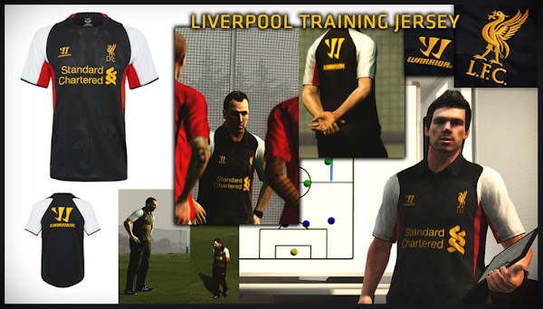 PES 2013 Liverpool FC Training Kits 2012/13 by JIYIN