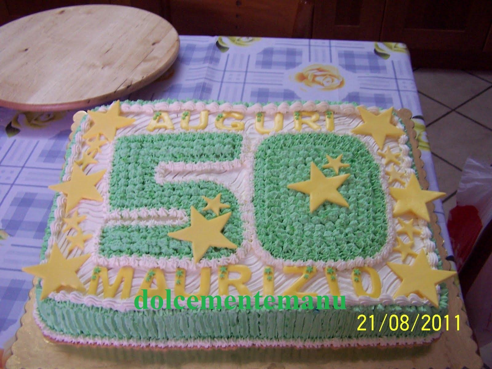 Dolcementemanu torta x 50 anni for Decorazioni per torta 60 anni