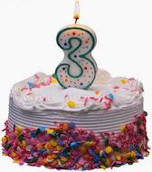 Min blogg firar 3 år! HURRA!
