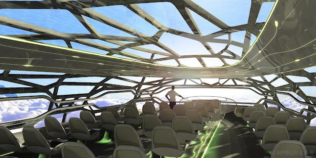 Veja mais detalhes do avião teto transparente da Air Bus
