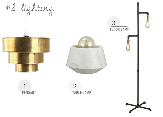 Shop lighting collection for a casual loft style