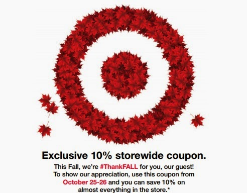 Target #Thankful 10% Off Store Coupon