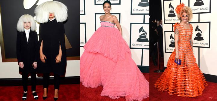 Grammys 2015 worst dressed rihanna sia joy villa