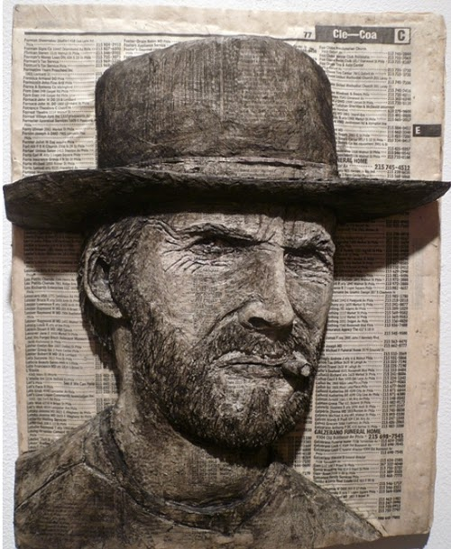 04-Clint-Eastwood-Phone-Books-Sculpture-Carving-Cuban-Artist-Alex-Queral-WWW-Designstack-Co