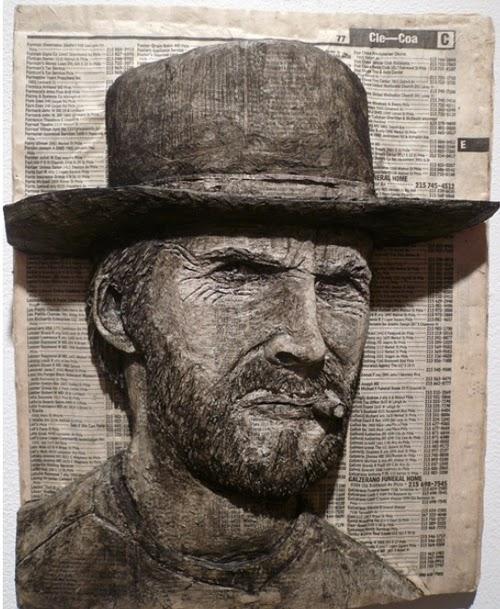 04-Clint-Eastwood-Phone-Books-Sculpture-Carving-Cuban-Artist-Alex-Queral-WWW-Designstack-Co