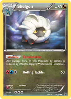 Shelgon Roaring Skies Pokemon Card