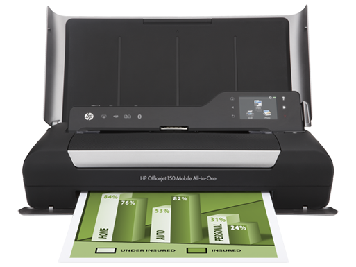 HP Officejet 150 Mobile All-in-One Printer - L511a (CN550A