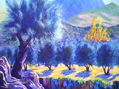 olivo-sobre-peñasco-2010-oleo-sobre-tabla-de-javier-korral