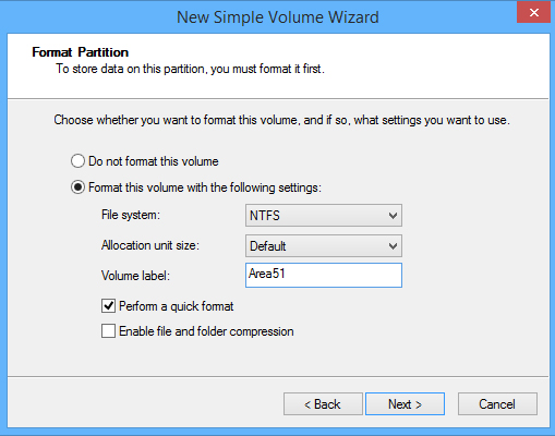 create partition in windows 8