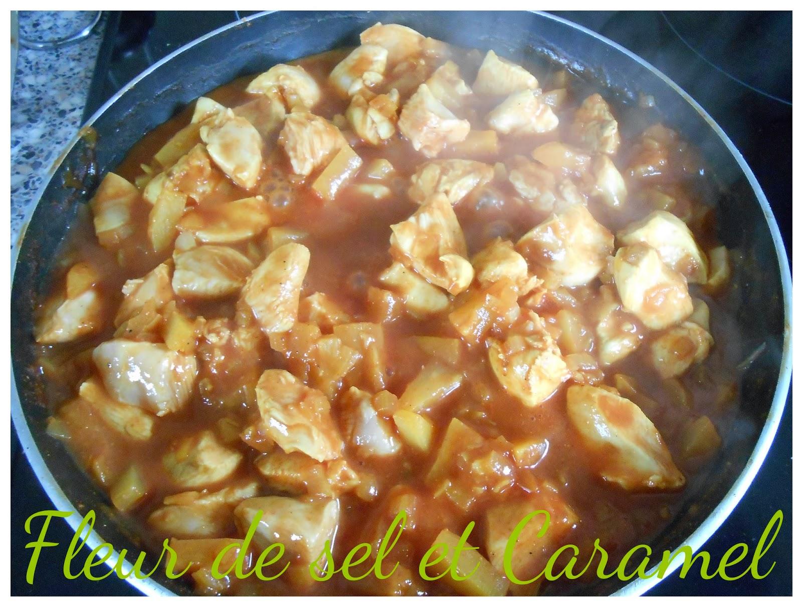 Poulet curry à l'ananas
