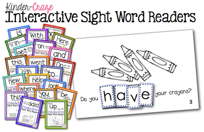 Interactive Sight Word Readers, only $1 each