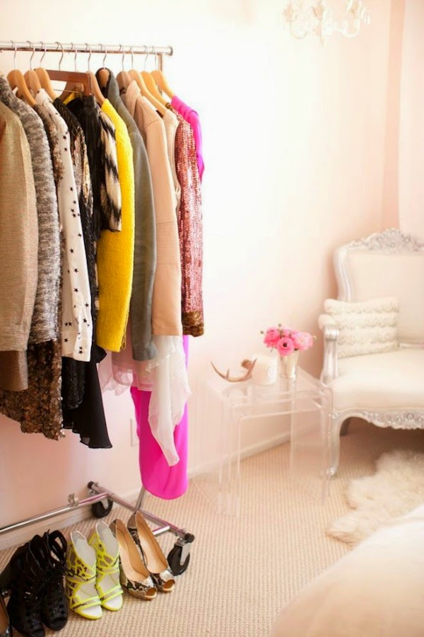 Dressing Room with Clothing Rack