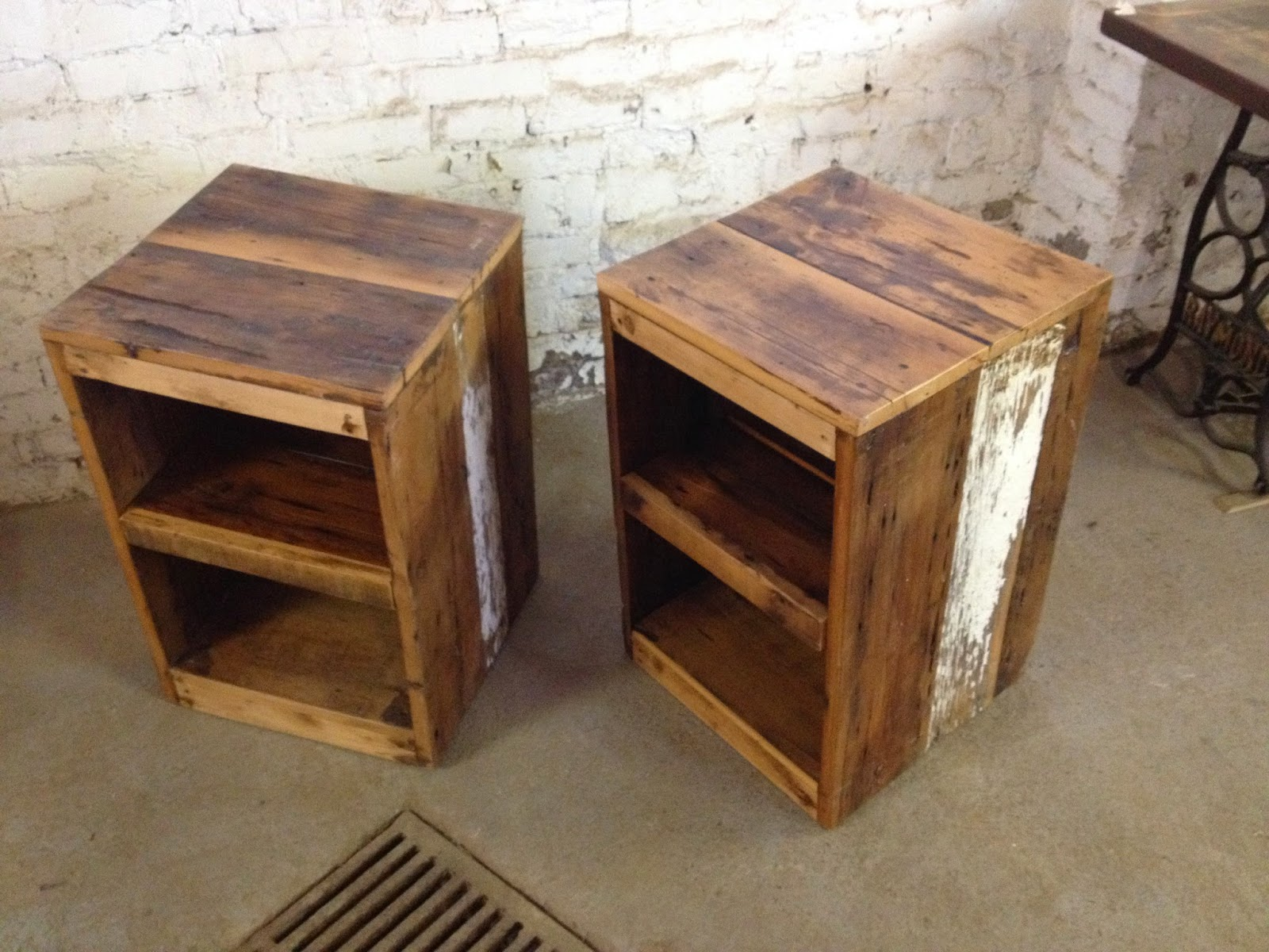 forever interiors barn board side table With barn board end tables