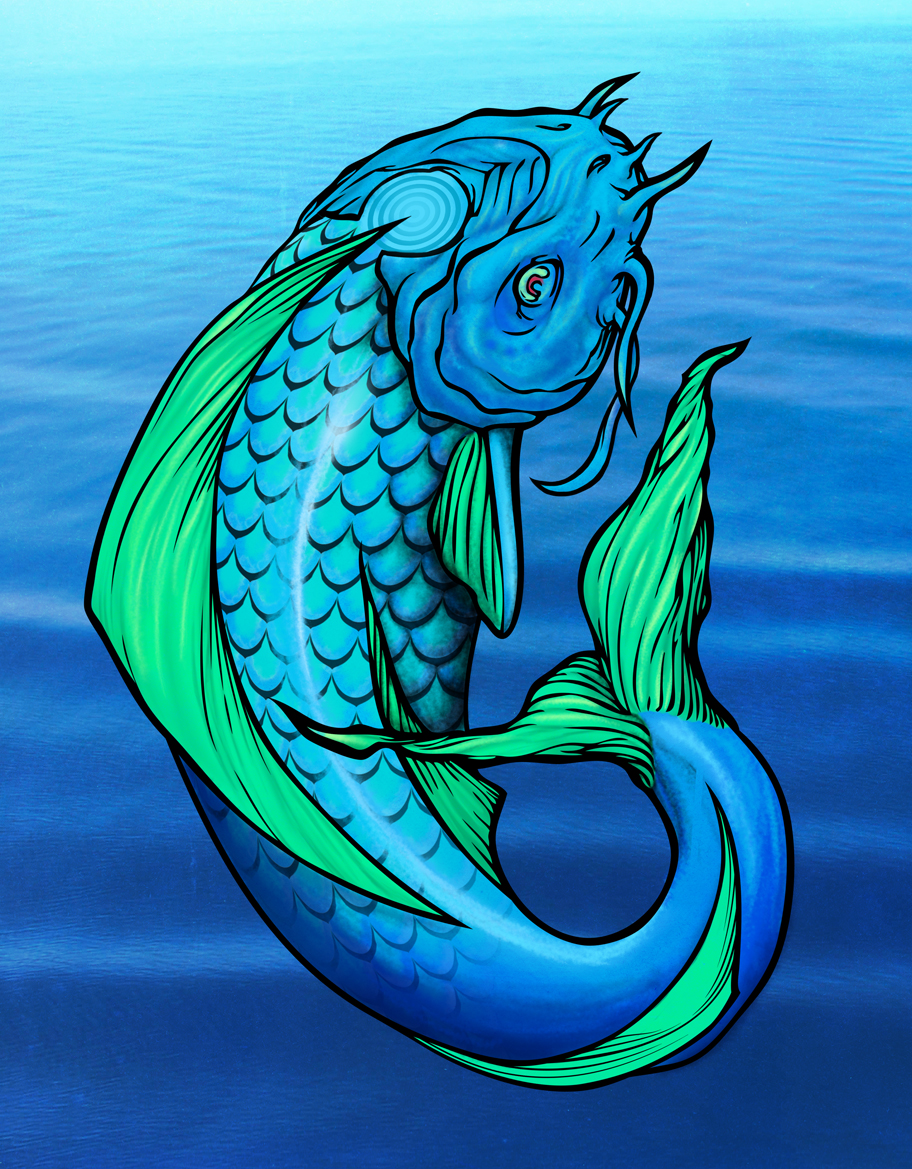 A wolf illustrations blog koi fish for Koi fish pisces