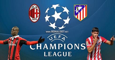 مشاهدة مباراة ميلان واتليتكو مدريد بث مباشر اليوم 11-3-2014 ماتش اتليتكو مدريد وميلان بث مباشر