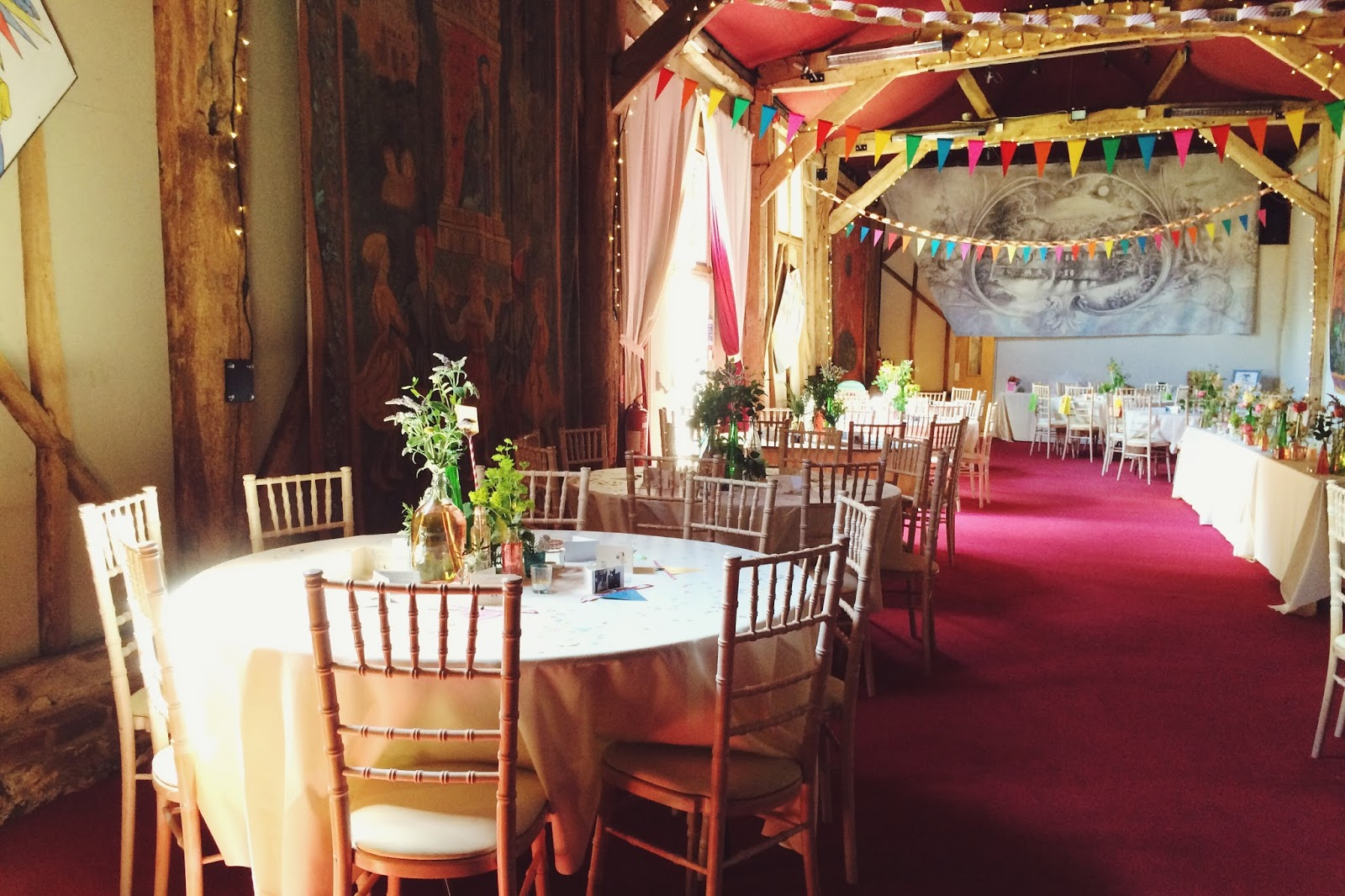 Wedding decorations - rustic style, Combe Manor