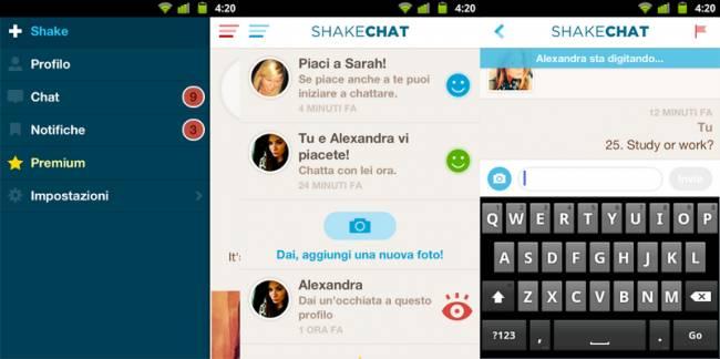 Shakechat è un interessante e alternativa chat simile alla chatroulette per Android e iOS