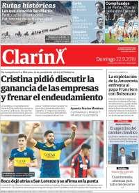 PRIMERA PAGINA  EL CLARIN DE ARGENTINA