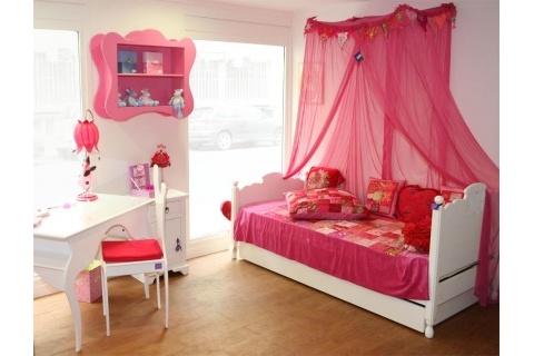 Bricolage e decora o ideias para quartos de menina cor de rosa for Chambre fillette 12 ans