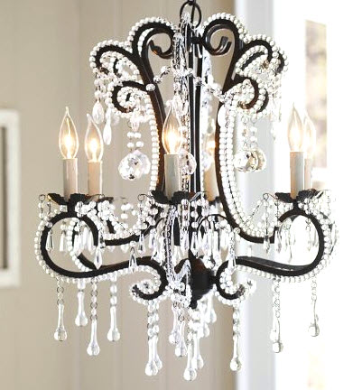 Fresh Bedecked with crystal droplets in a range of styles u from teardrops and icicles to faceted jewels u the Pottery Barn Katerina Beaded Crystal Chandelier