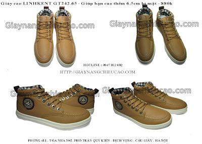 Giày nam tăng chiều cao GT242. 65