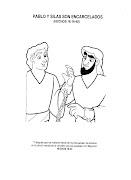 Pablo y Silas encarcelados - Dibujos cristianos para colorear pablo silas en la carcel para colorear