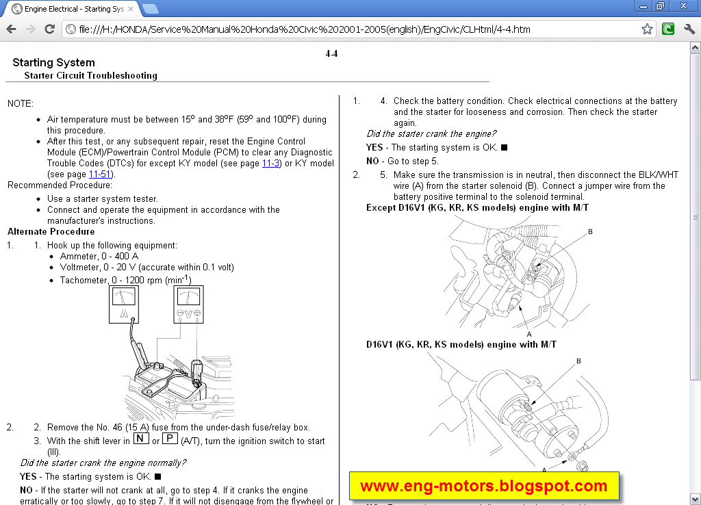 honda civic service manual 2012