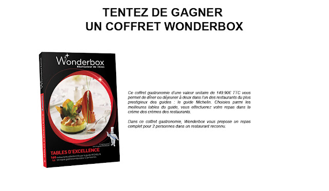 150 coffrets Wonderbox Tables d'Excellence