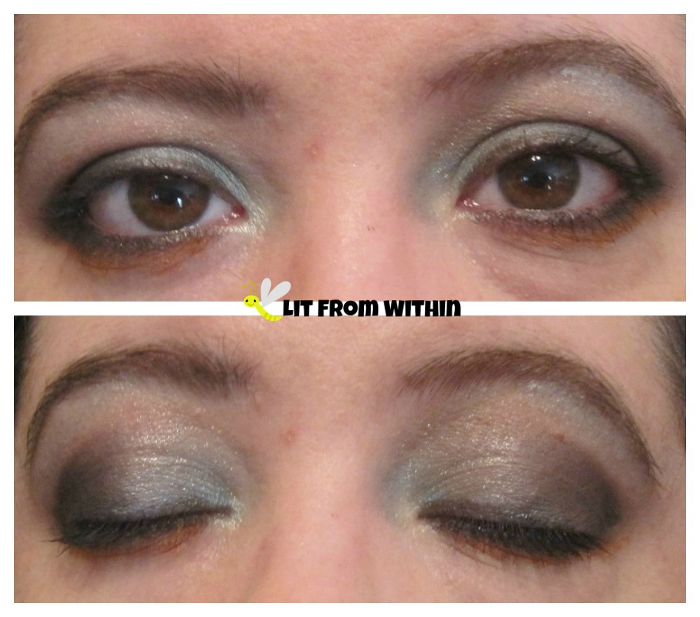 my version of Kendra's wintry icy look from 500 Eye Makeup Designs: Inspired and Inventive Looks for Every Mood and Occasion