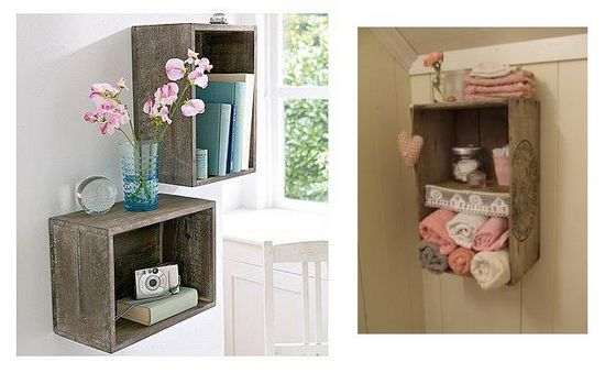 Coisas da Kátia Caixotes de madeira na decoração -> Banheiro Decorado Com Caixote De Feira