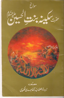 Sakina Bin al Hussain r.a is an Urdu book which will tell you some biography and many doubts which will pointed out by Abdul Haleem Sharara and then later another non Shiite scholar Hafiz Bahadar Ali BSc from India raised some objections about history of Islam related to Family of Muhammad pbuh, Maulwi Bahadar Ali wrote that Sakina (Sukayna bint Husayn) who was little girl soon forgot the martyrdom of his father and she started to attend some unsocial parties in Syria as well as she introduced some new style for ladies hair, she started to take interest in poetry and ceremonies of joy, but the author of following book replied those objections well and also referenced Non Shiite books, he penned down that in history we know names of few ladies like Pharaoh's ladies also were in cover as it was custom of time that ladies, girls had no importance in society, many people killed their girls at time of birth, but Islam gave importance to girls and Koran nominated few ladies like Asiya and Mariam were nominated as symbol of greatness and honor for us, so Sakina who was the girl of Family of Prophet who was leader of all Prophets and whose grandsons are leader of youths of Heaven, how it is possible she after forgetting the martyrdom of all his men in Karala started to attend evil and un pious parties in Syria?