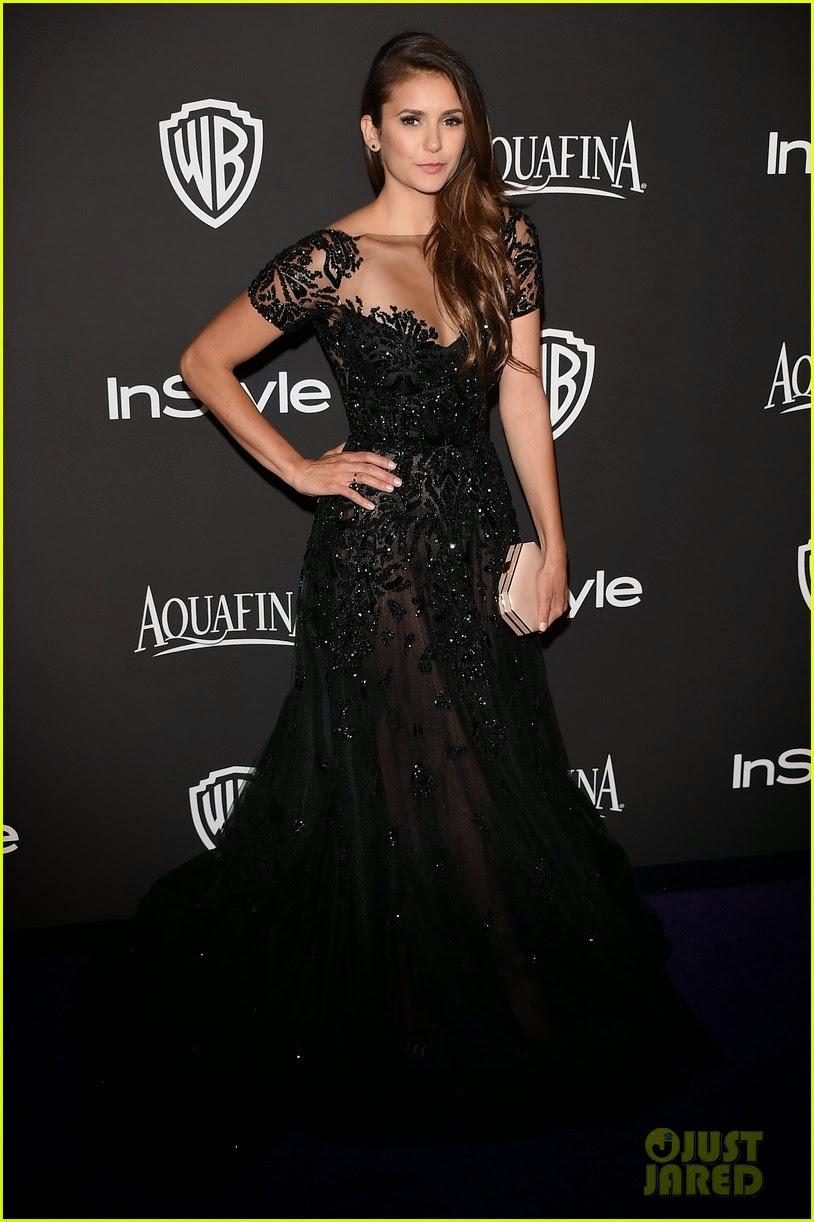Celeb Diary: Nina Dobrev at the InStyle Golden Globes ...
