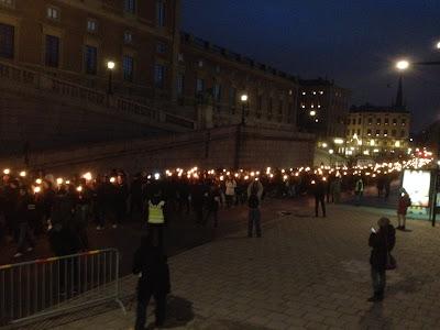 Шествие нацистов в Стокгольме