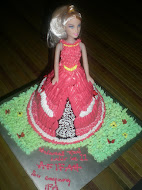 "1kg / 7"" Moist Chocolate Barbie Cake"