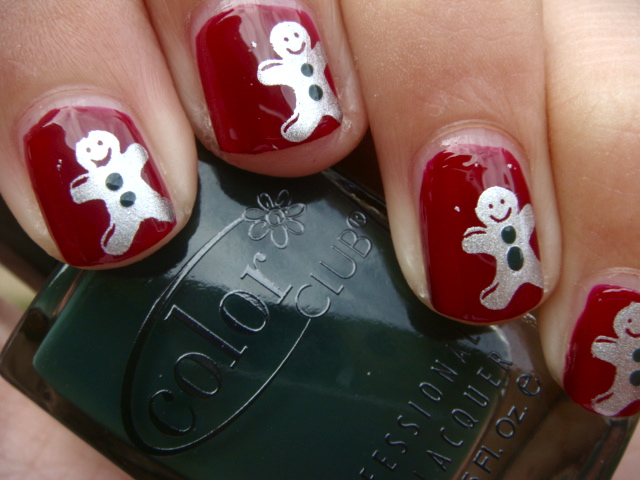 Posh for polish christmas nail art series gingerbread men christmas nail art series gingerbread men prinsesfo Image collections