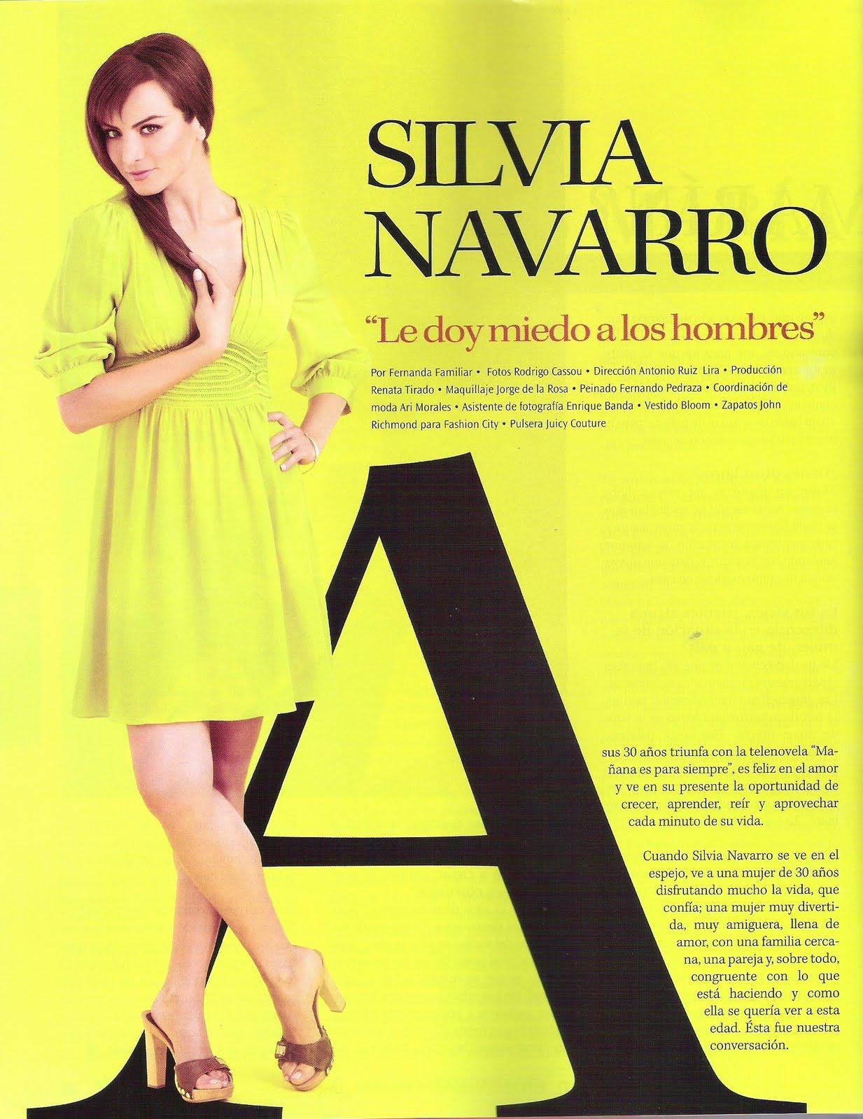 Silvia Navarro 2009-es Fernanda magazinban.