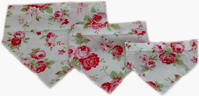 Floral style cath kidson style dog bandanas