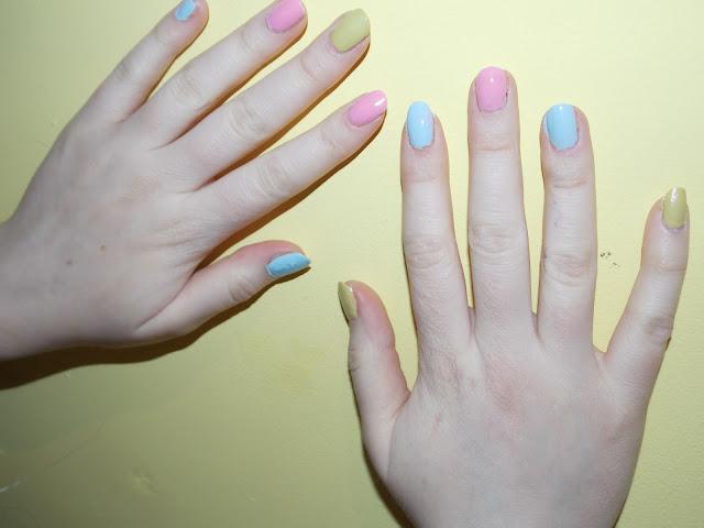 pastel nail paint, barrry M / Avon