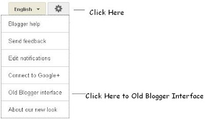 Blogger Old Interface