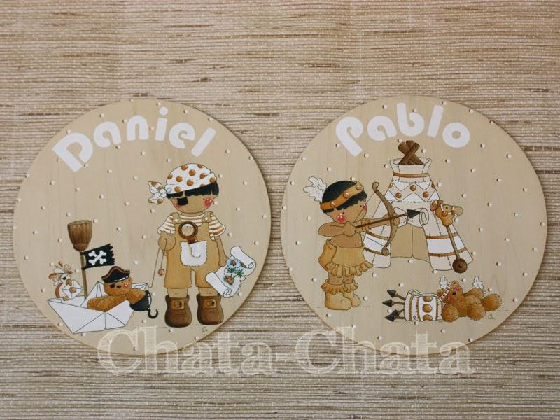 Chata chata decoraci n infantil placas para la puerta for Placas decoracion pared