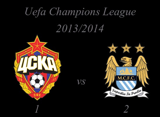 CSKA Moskva vs Manchester City Result October 2013
