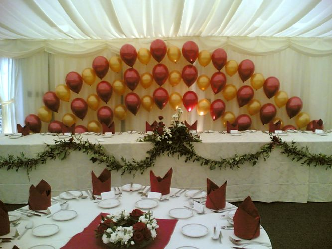Mrs homemaker bash your treat with balloons for Balloon decoration for weddings