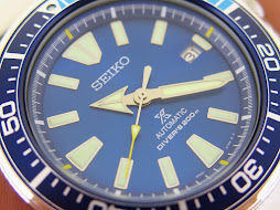 SEIKO SAMURAI SUNBURST BLUE LAGOON DIAL - SEIKO SRPB09K1 - AUTOMATIC 4R35 - LIMITED EDITION - MINT