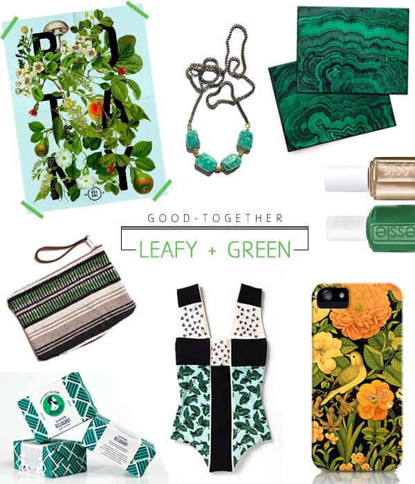 good together : leafy + green via OTL blog