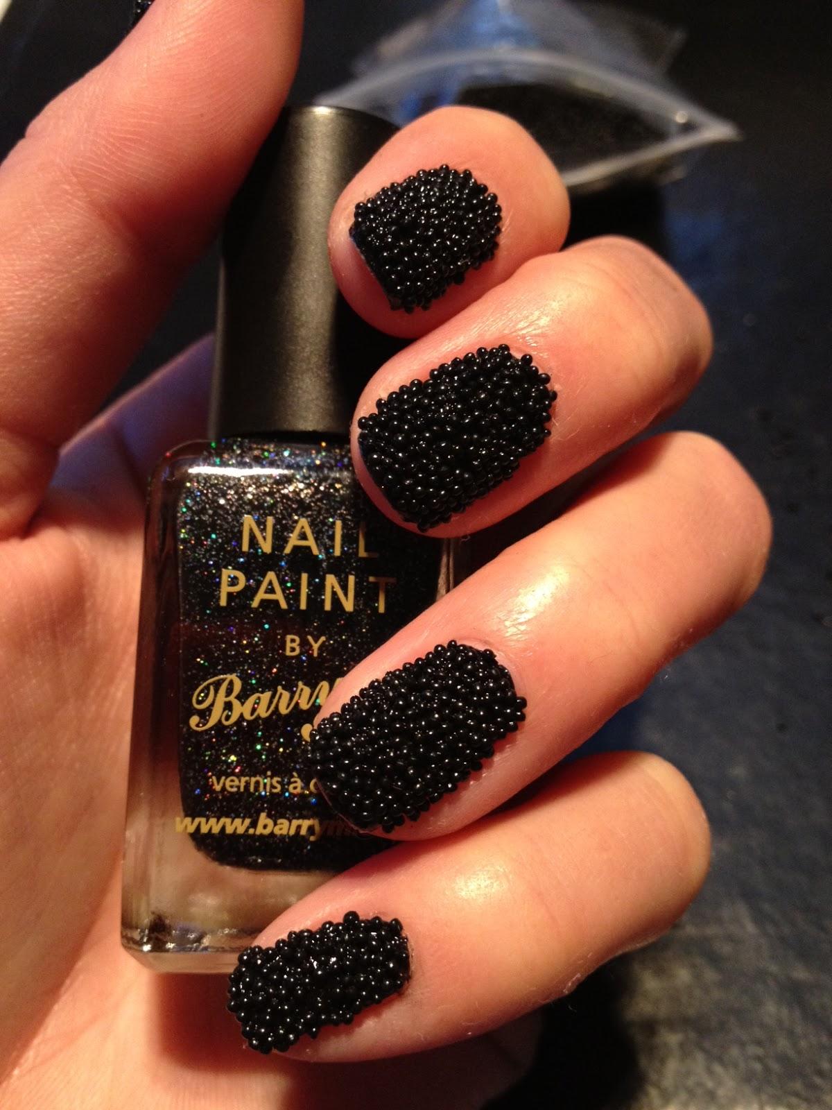 Black Caviar Nails How To: Caviar Nails -...