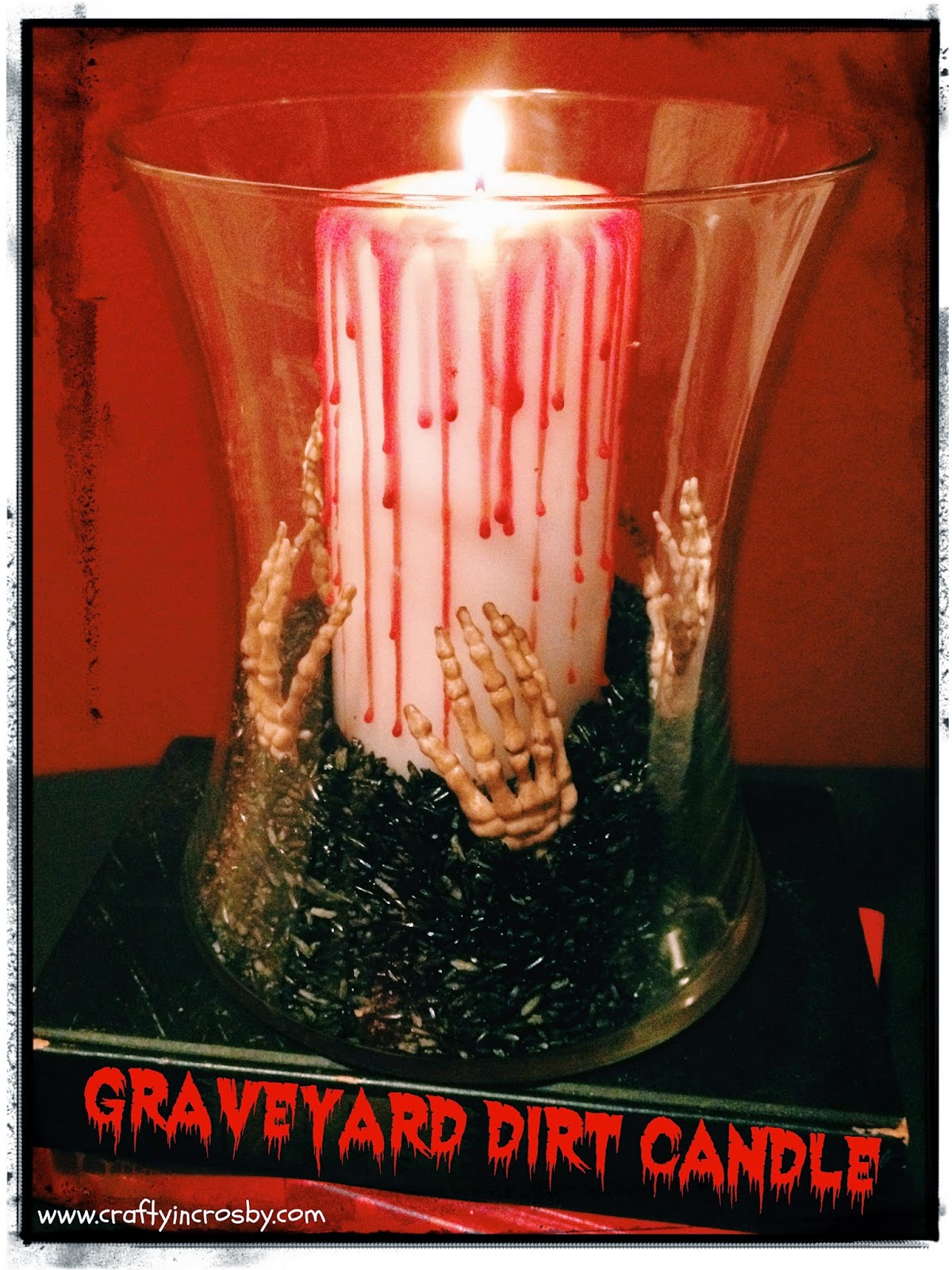 Halloween candle, Halloween DIY, Halloween decorations, skeleton hands,