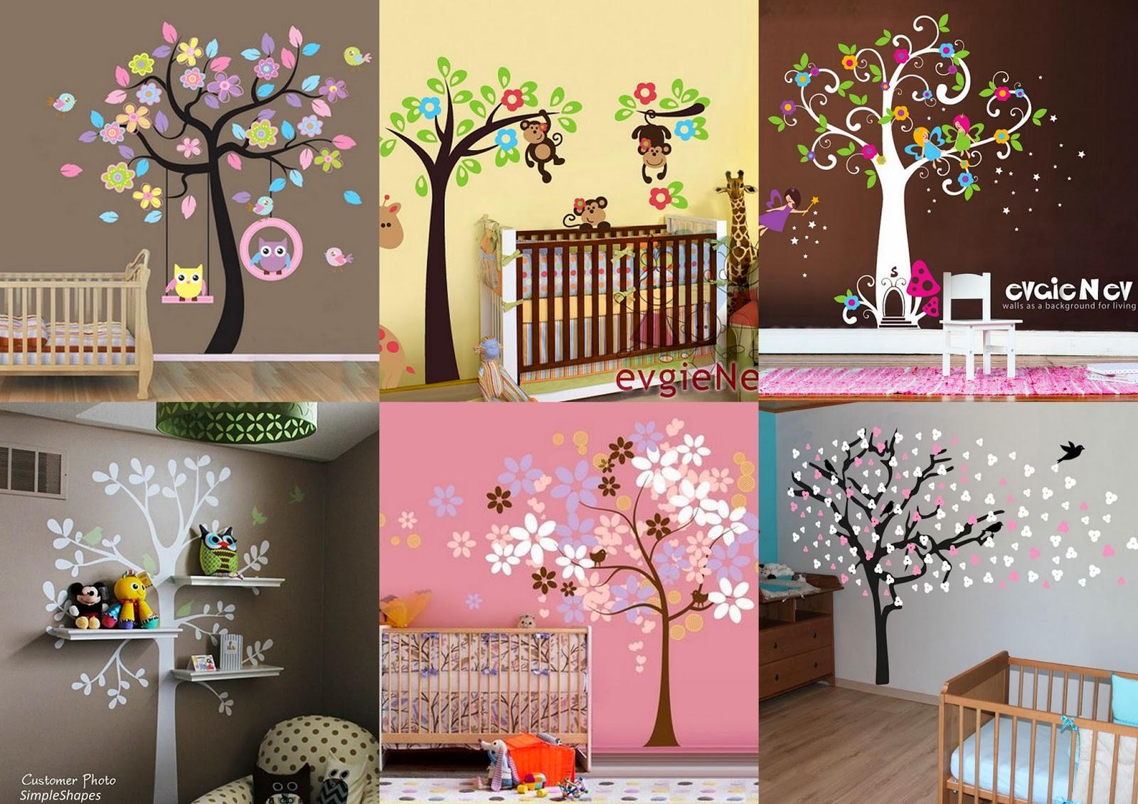Chambre bebe arbre avec des id es for Stickers arbre pour chambre bebe