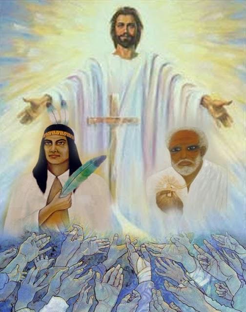 jesus, preto-velho, caboclo, umbanda