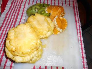 frutta all'amaretto in trionfo